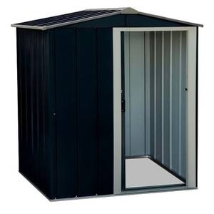 5x4ft Sapphire Apex Metal Shed Anthracite