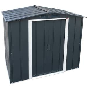 6x4ft Sapphire Apex Metal Shed Anthracite