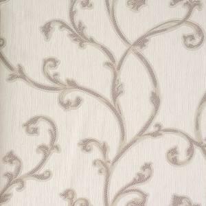Belgravia Decor Perlina Floral Embossed Metallic Rose Scroll Wallpaper