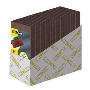 Flexovit Orbital Sanding Sheets - 8 Hole 93 x 230mm - 50, 80 & 120 Grit - 25 Pack