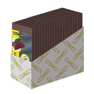Flexovit Orbital Sanding Sheets - 8 Hole 115 x 280mm - 50, 80 & 120 Grit - 25 Pack