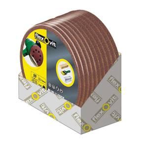 Flexovit Circular Sanding Discs - 125mm - 120 Grit - Fine - 15 Pack