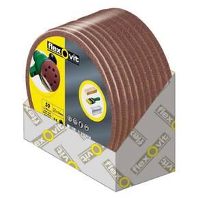 Flexovit Circular Sanding Discs - 125mm - 80 Grit - Medium - 15 Pack