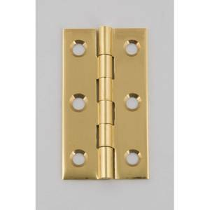 Hafele Solid Drawn Butt Hinge - Polished Brass - 50 x 28mm - 2 Pack