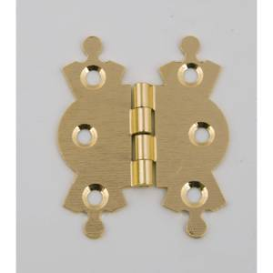 Hafele Butterfly Hinge - Electro Brass - 50 x 42mm - 2 Pack