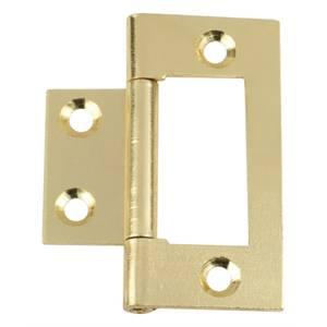 Hafele Flush Hinge - Electro Brass - 50 x 24mm - 2 Pack