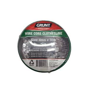 Grunt Clothesline 4mm x 30m - Green