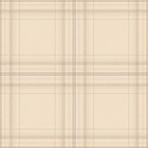 Holden Decor Check Linen Tartan Smooth Beige Wallpaper