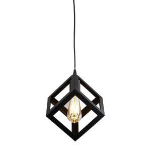 Dunkeld 1 Light Square Pendant Light - Matt Black