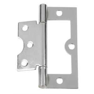 Hafele Flush Hinge - Chrome Plated - 75 x 26mm - 2 Pack