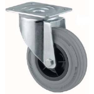 Swivel Wheel Castor Rubber Grey 50mm