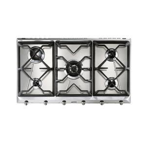 Smeg SRV596GH5 89cm 5 Burner Gas Hob - Stainless Steel