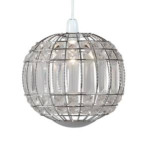 Omeo Acrylic Easy Fit Pendant Light Shade - Chrome & Clear