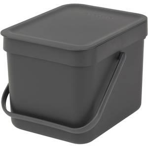 Brabantia Sort & Go Waste Bin 6L - Grey