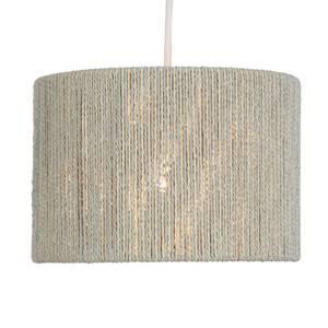 Lexi String Lamp Shade - Grey & Ivory - 25cm
