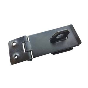 Safety Hasp & Staple - Black - 76mm