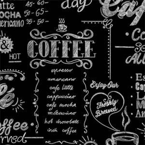 Superfresco Easy Coffee Shop Wallpaper - Black/White