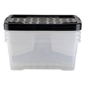 Strata All Set 42L Storage Boxes - 4 pack