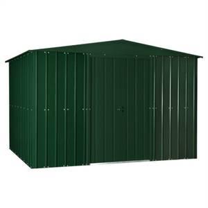 10x12ft Lotus Metal Shed Heritage Green