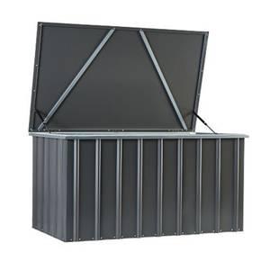 Lotus 5 x 3ft Metal Storage Box - Anthracite Grey