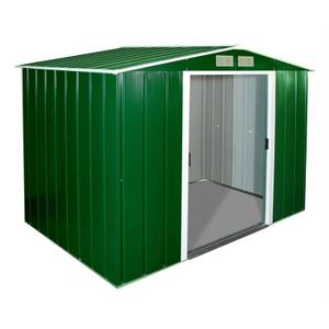 8x8ft Sapphire Apex Metal Shed Green