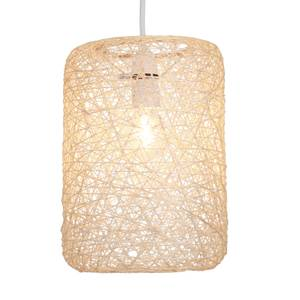 Abaca Straight Cylinder Pendant - Natural