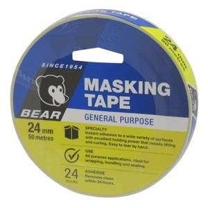 Bear 24mm x 50m General Purpose Masking Tape