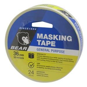 Bear 36mm x 50m General Purpose Masking Tape