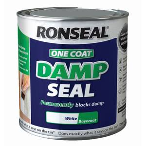 Ronseal White - One Coat Anti-Damp Paint - 2.5L