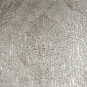 Boutique HWV Corsetto Damask Taupe Wallpaper
