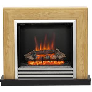 Be Modern Devonshire Electric Fireplace Suite - Natural Oak