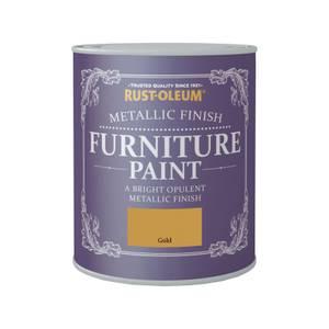 Rust-Oleum Metallic Furniture Paint - Gold - 750ml