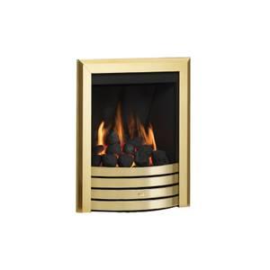 Be Modern Design Deepline Inset Gas Fire - Manual Control - Brass