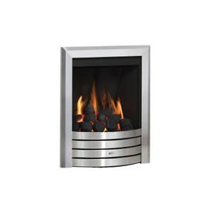 Be Modern Design Deepline Inset Gas Fire - Manual Control - Brushed Steel