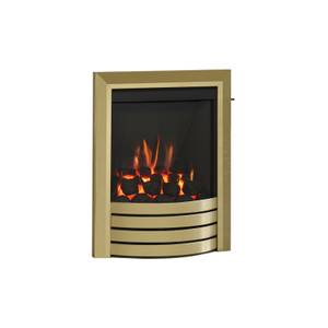 Be Modern Design Slimline Inset Gas Fire - Slide Control - Brass