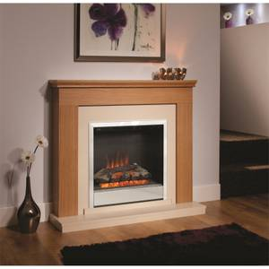 Be Modern Durham Electric Fireplace Suite - Natural Oak
