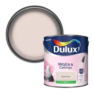 Dulux Standard Blush Pink Silk Emulsion Paint - 2.5L