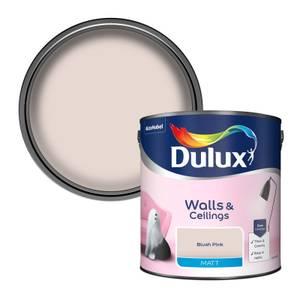 Dulux Standard Blush Pink Matt Emulsion Paint - 2.5L