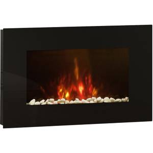Be Modern Azonto Wall Mounted Electric Fire - Black Glass