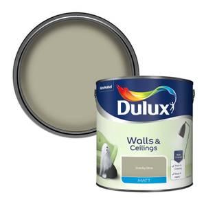 Dulux Standard Overtly Olive Matt Emulsion Paint - 2.5L