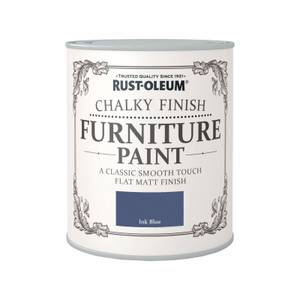 Rust-Oleum Chalky Furniture Paint - Ink Blue - 750ml