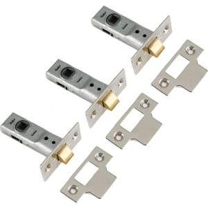 Yale Tubular Latch 64mm / 2.5 inches - Chrome - 3 Pack