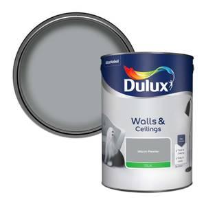 Dulux Standard Warm Pewter Silk Emulsion Paint - 5L