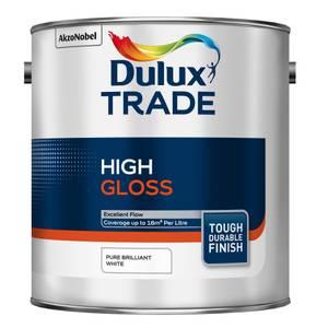 Dulux Trade Pure Brilliant White Gloss Paint - 2.5L