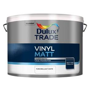 Dulux Trade Vinyl Pure Brilliant White - Matt Emulsion Paint - 10L