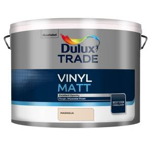 Dulux Trade Vinyl Magnolia - Matt Emulsion Paint - 10L