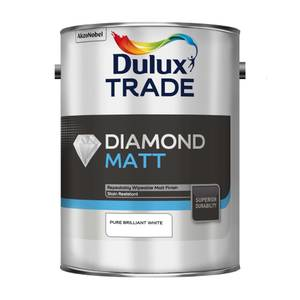 Dulux Trade Diamond Matt Pure Brilliant White Paint - 5L