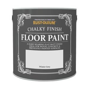 Rust-Oleum Chalky Floor Paint Winter Grey 2.5L