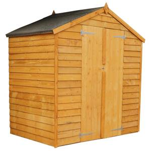 Mercia 4x6ft Overlap Apex Windowless Wooden Shed