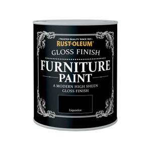 Rust-Oleum Gloss Furniture Paint - Liquorice - 750ml